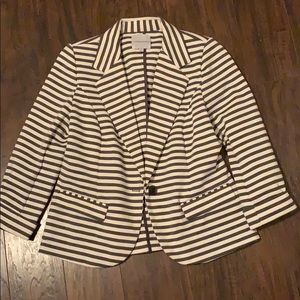 Charcoal and white striped blazer